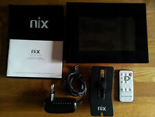 """Nix TS07 digitaler Bilderrahmen schwarz 7"""" LCD-Display mit Fernbedienung"""