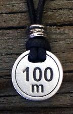 100 Meter Pewter Pendant