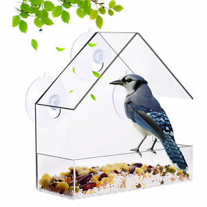Suction Cup Mounting Bird Feeder Waterproof Wall-Mounted Lightweight F2Y9