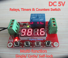 DC 5V Programmable Self-lock Cycle PLC Timer Relay Module Delay Time Switch