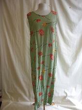 Ladies Dress - Wallis, size 14, green floral crinkle viscose? oversize used 2353
