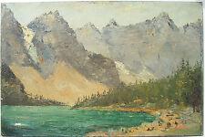 Leonard Davis c.1900 Moraine Lake Alberta Canada painting CA California artist