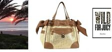 JUICY COUTURE Beige Palm Spring Straw Daydreamer TOTE Shoulder Bag  NEW $198