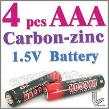 4 piezas AAA zinc-carbono Baterías uso individual R03P 1212 UM4