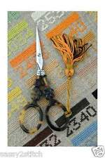 Sajou French Tortoise Shell Scissors for Embroidery, Cross Stitch, Needlework