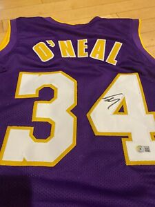 Shaquille O'Neal Autograph Auto Los Angeles Lakers Custom Basketball Jersey BAS