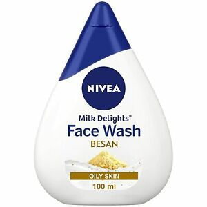 Nivea Milk Delights Besan Face Wash For Oily Skin Gramflour Cleanses Skin 100 Ml
