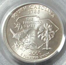 2000-P SOUTH CAROLINA SC STATE QUARTER ERROR BROADSTRUCK OUT OF COLLAR PCGS MS 6