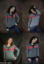 Gestreifte Damen-Pullover & -Strickware aus Kaschmir in Übergröße