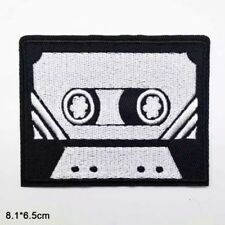 Music Cassette Audio Tape Embroidered Patch Iron On Appliqué