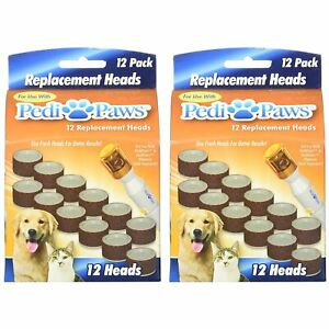 Set 2 of 12 Packs Replacement Refill Heads Pedi Paws Dog Nail Grinder Grooming