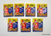 1988 Topps Football Wax Packs (7) Lot of 7 Wax Packs