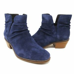 NEW $200 Cole Haan Alayna Marine Blue Suede Slouch Bootie   -Select Size-