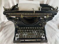 UNDERWOOD Black Steel Standard Typewriter Vintage, Antique, WorKS 1918-1925 e357