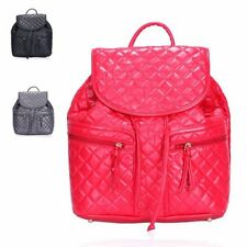 Faux Leather Outer Backpack Quilted Handbags