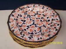 Royal Crown Derby 19th Century 6 Imari Decorated Plates  # 379