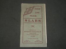 1908 NORTHWESTERN EXPANDED METAL CO. ROOF AND FLOOR SLABS GUIDE BOOK - J 3634