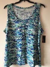 a.n.a ANA Blue Green Navy Plus Size 2x Blouse Summer Top Tee T shirt New Msrp$22