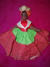 "VINTAGE FOLK ART DOLL 12"" HAND MADE DRESS"