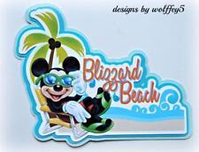 Disney Beach scrapbook premade paper piecing page diecut piece Art Card Wolffey