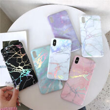 Cool Marble Bling Rainbow Soft Silicone Glossy Case Cover for HUAWEI P20 iphoneX