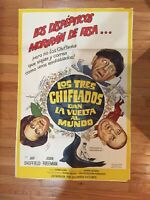 THREE STOOGES GO AROUND THE WORLD IN A DAZE SPANISH ONE SHEET POSTER