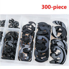 300-piece External Retaining Ring E-Clip Assortment Set Pack of Spring Steel