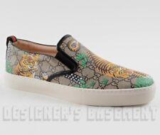 GUCCI men 11.5G BENGAL TIGER GG Supreme Canvas DUBLIN slip on sneakers NIB Auth