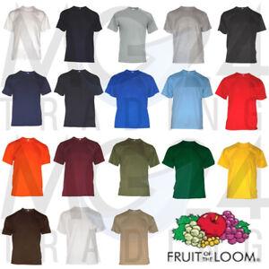 10er Set Herren T-Shirts Fruit of the loom Unisex S M L XL XXL 3XL 18 Farben NEU