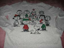 Charlie Brown Snoopy Christmas   Adult X Small Long Sleeve  T-Shirt