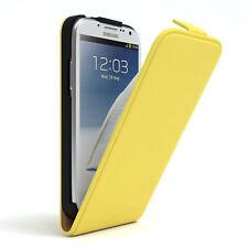 Tasche für Samsung Galaxy Note 2 Flip Case Schutz Hülle Cover Gelb