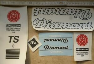 Aufklebersatz,Aufkleber,DIAMANT,Fahrrad,TS,,Sport,Oldtimer,DDR,Radsport