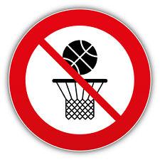 No Basketball Ban Stop Sign Car Bumper Sticker Decal 5'' x 5''