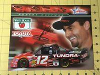 Autographed Robert Huffman #12 Photo Card NASCAR's Toyota Tundra 2005 Craftsman