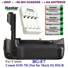 BG-E7 Grip + 6x AA NI-MH Battery & Charger for Canon LP-E6, EOS 7D Digital SLR