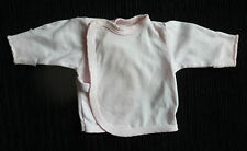 Baby clothes GIRL premature/tiny<5lbs/2.3kg  long sleeve wrapover top popper fix