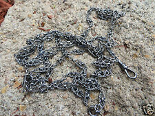 """ANTIQUE VICTORIAN FRENCH 80-900 SILVER LONG WATCH GUARD MUFF CHAIN 55"""""""