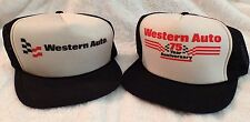 Vintage Western Auto Supply Black Mesh Trucker SnapBack Hats Caps One Size