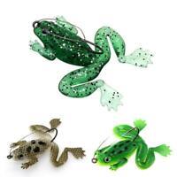 3D eyes Fishing Lures Crank Baits Frog Soft Tackle Bait Hooks Fishing Hooks