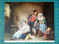 """Broken Eggs"" by Greuze 1937 Lithograph Print"
