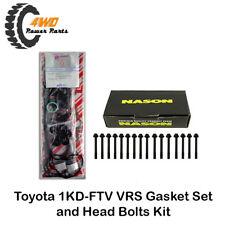 Toyota Hilux 1KD-FTV VRS Gasket Set and Head Bolts KUN16 KUN26 4 Cyl 16V Japan