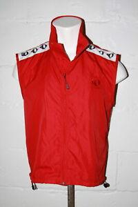 EUC Pearl Izumi Red Full Zip Mesh Back Cycling Vest Jacket Sz L Large