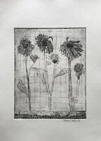 Klaus Thelen Aquatintaradierung #11 Blühende Pflanzen Blumen