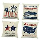 American Patriotic 4th of July Throw Pillow Covers 18x18 set Independence Day