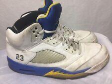 Air Jordan 5 Retro Cement White University Blue Yellow 136027-104 Size 13