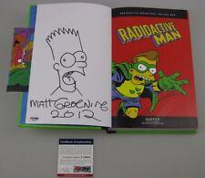 MATT GROENING Hand Signed + HUGE SKETCH Radio Active Man Book + PSA DNA COA