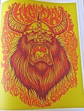 High on Fire Band Concert Poster Reprint for Gig in Montreal  2007  14x10