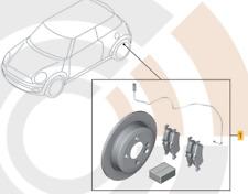 Mini R50 R52 R53 / 34212179170 Satz Bremsscheiben + Beläge Hinten Original MINI