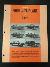 1966 Ford dealer training literature. Ford vs GM lines. Rare & Original