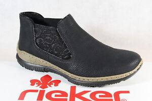 Rieker Mocassins Bottines Chaussures Basses Memosoft Noir N32H8 Neuf
